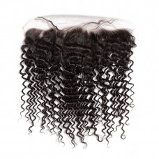 10a brazilian human hair 13*4 Closure Deep Curly lace frontal