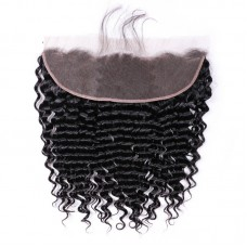 10a brazilian human hair 13*4 Closure Deep Wave lace frontal