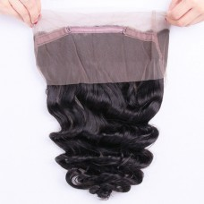 10a Mongolian Human Hair 360 Closure Loose Wave