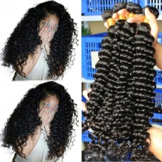 1 bundle human hair Peruvian Grade 10A Deep Curly 100g hair bundle