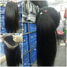 10a brazilian hair wholesale 360 Wig Silky Straight lace frontal